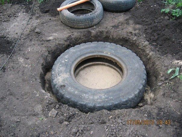 diy garden ponds from old tires. Black Bedroom Furniture Sets. Home Design Ideas
