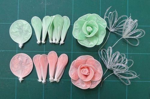Diy Roses From Plastic Garbage Bags