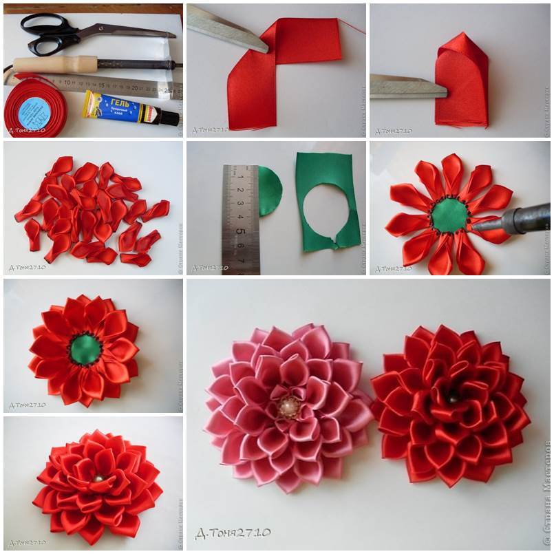 Diy Satin Ribbon Crafts