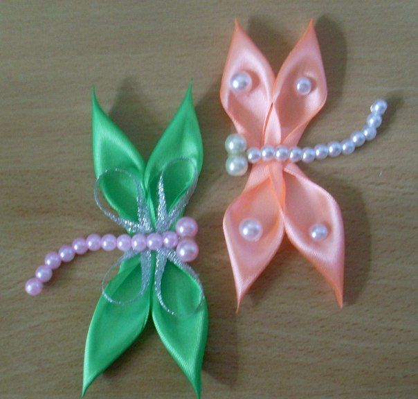Diy Kanzashi Satin Ribbon Dragonfly Icreativeideas Com