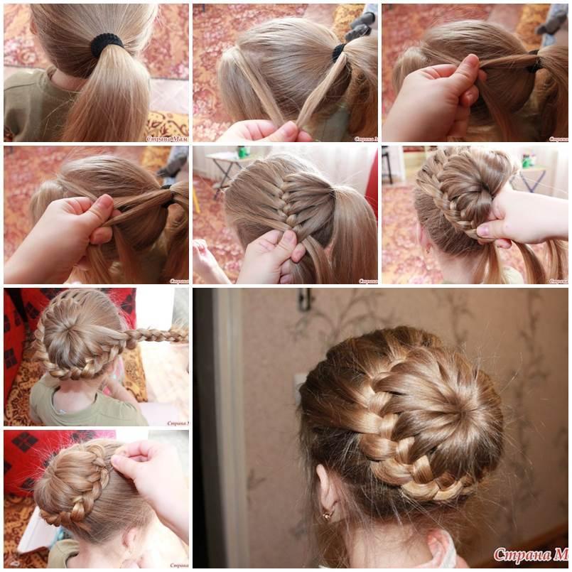 Enjoyable Diy Unique Braided Bun Hairstyle Hairstyles For Women Draintrainus