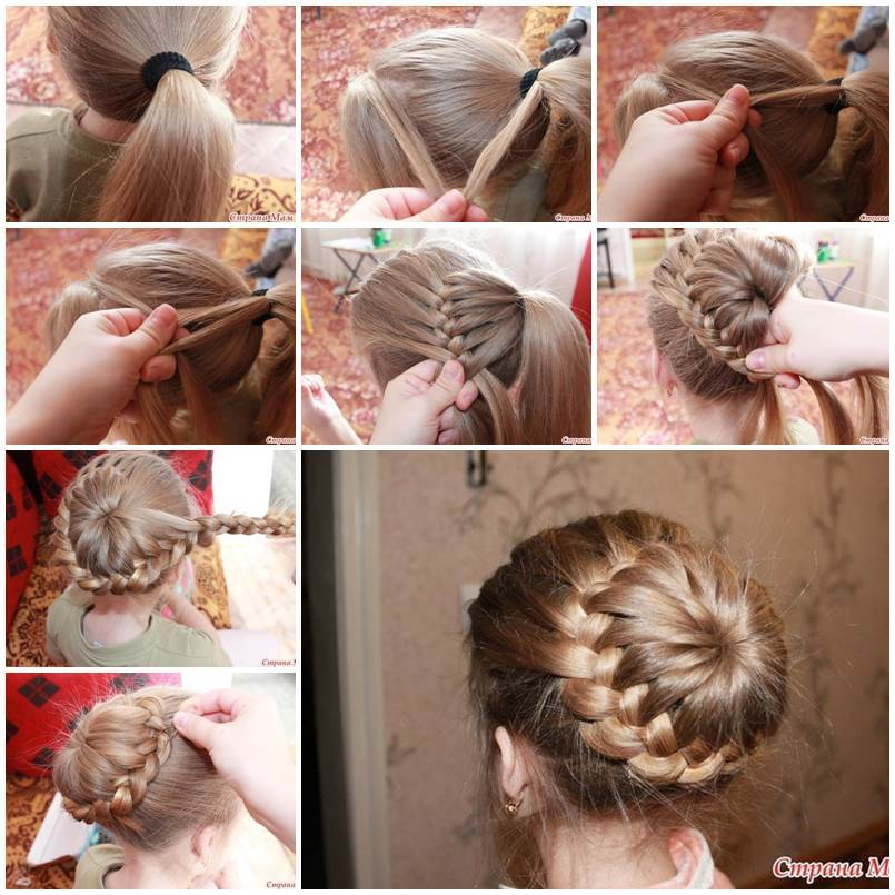 Swell Diy Unique Braided Bun Hairstyle Short Hairstyles Gunalazisus