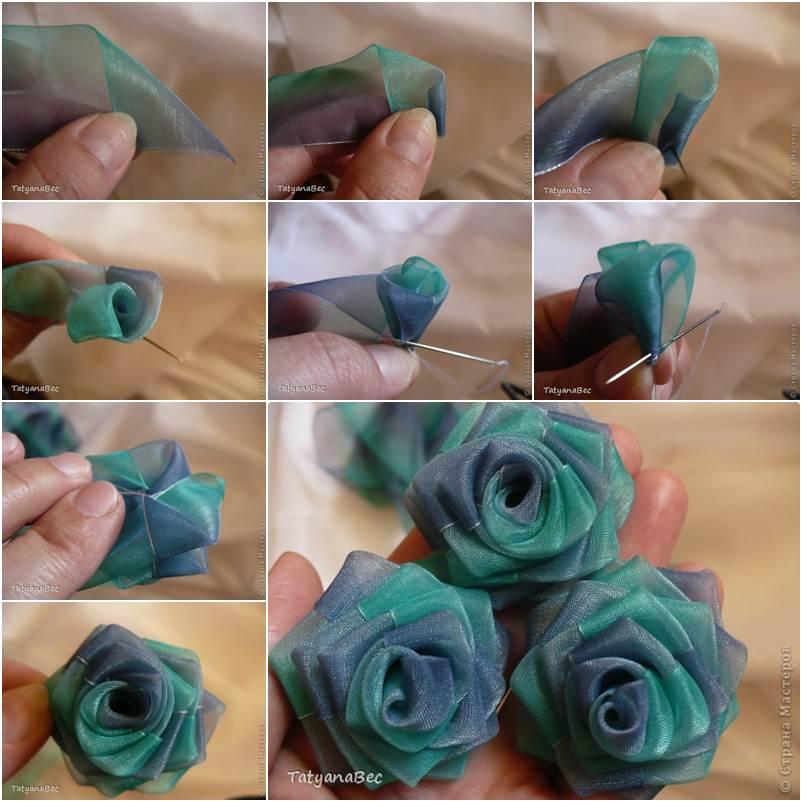 How to DIY Chiffon Ribbon Rosette