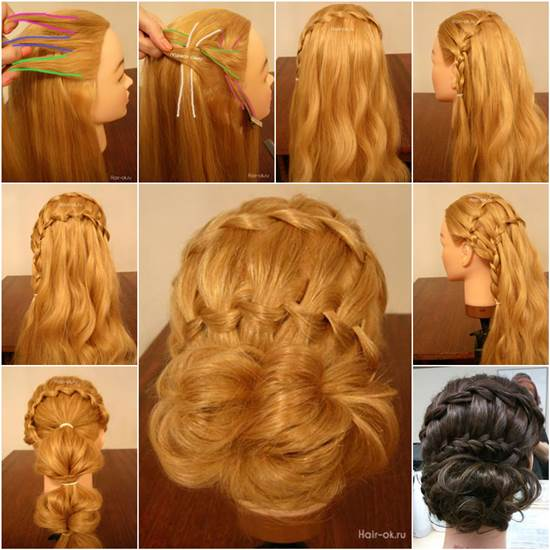 Diy Braided Hairstyles: How To DIY Double Waterfall Braided Bun Hairstyle
