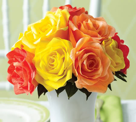 How to DIY Easy Rose from Crepe Paper | Paper Flowers ...