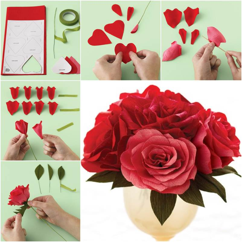 How to DIY Easy Crepe Paper Rose - photo#11