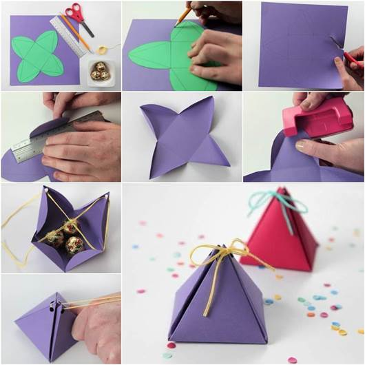 How to DIY Easy Pyramid Gift Box