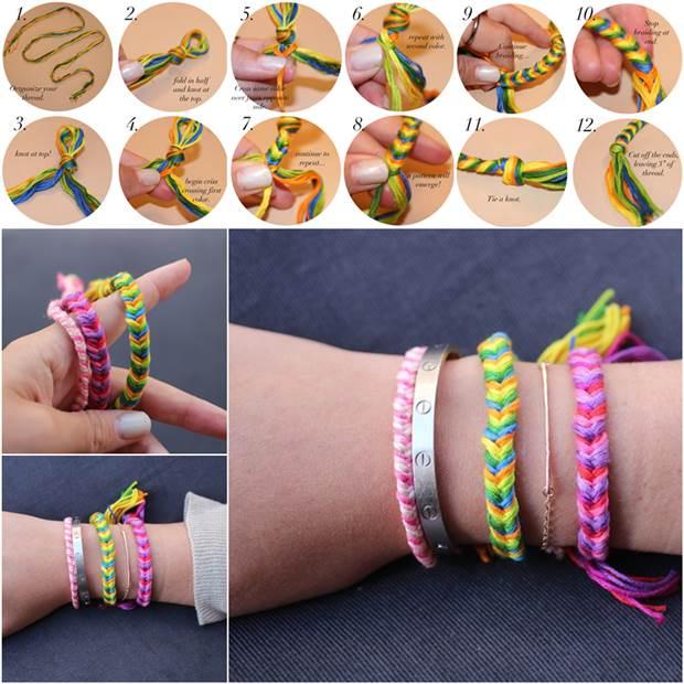 How to DIY Fishtail Braid Friendship Bracelet