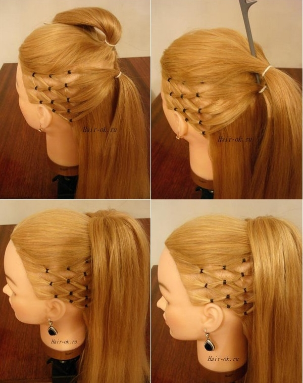 Terrific How To Diy High Ponytail With Side Mesh Hairstyle Short Hairstyles Gunalazisus
