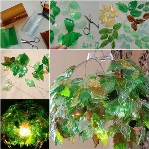 How to diy unique chandelier from plastic bottles for Bottle plastic diy