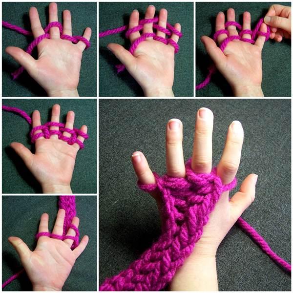 指で編む編み方