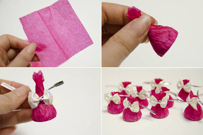 How To Make Beautiful Crepe Paper Flowers And Chocolates