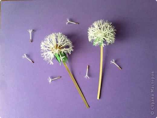 How To Make Beautiful Paper Dandelions Icreativeideas Com
