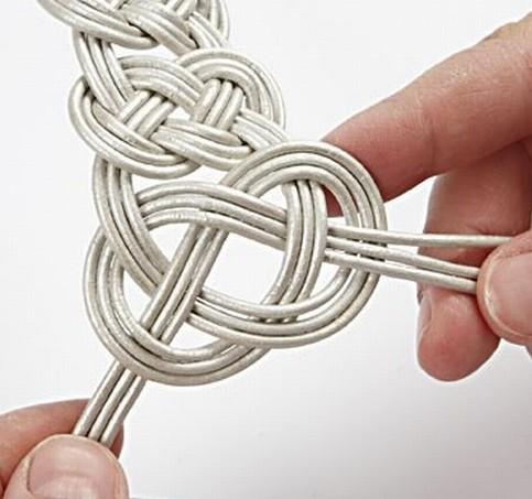 Узоры своими руками из веревок ниток 68