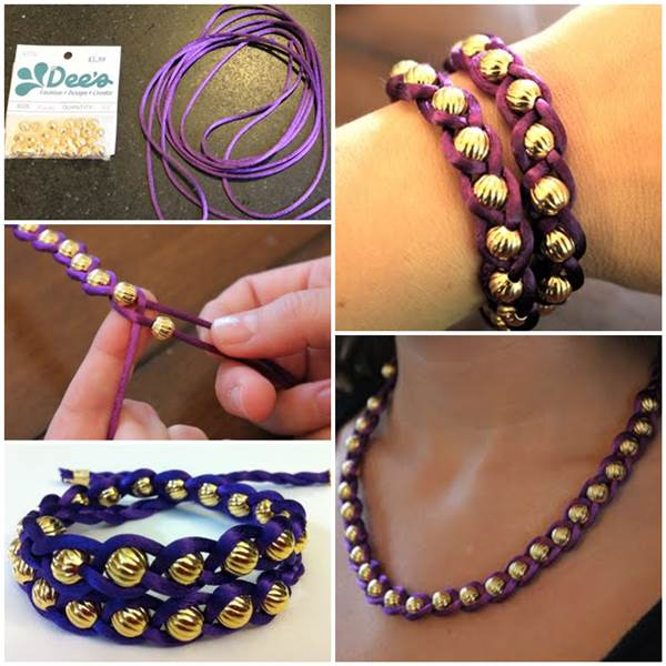 Как сделать легкие плетеные и браслет из бисера