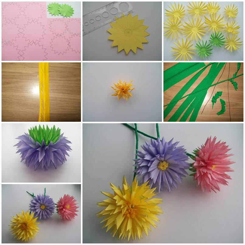 Study Room Ideas: How To Make Easy Paper Asters