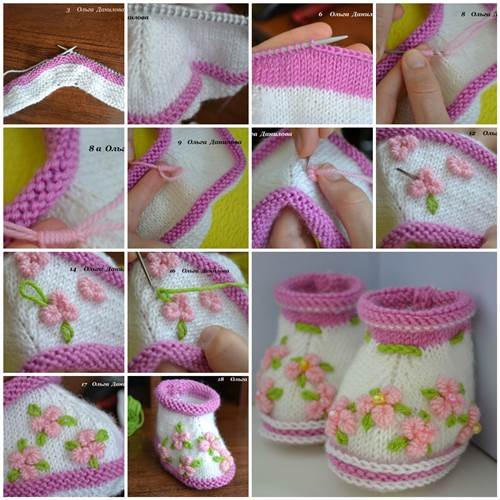 How to Make Pretty Knitted Baby Booties