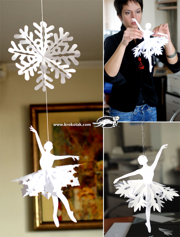 How to Make Snowflake Ballerinas
