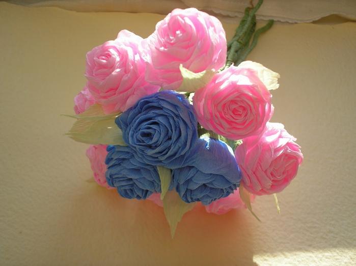 Розы из гофрированной бумаги своими руками пошаговое