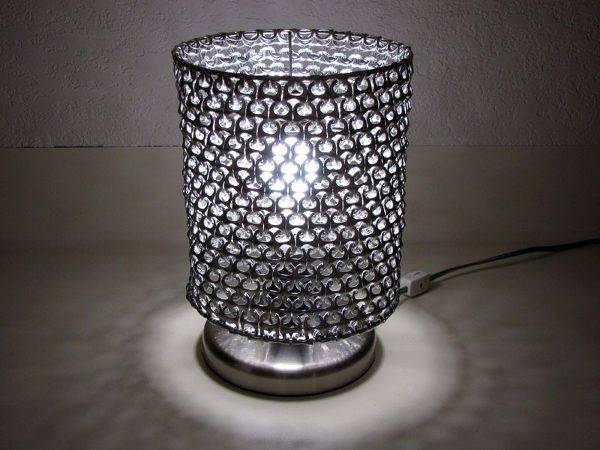 How to Make Unique Lampshade from Soda Can Pop Tabs 3