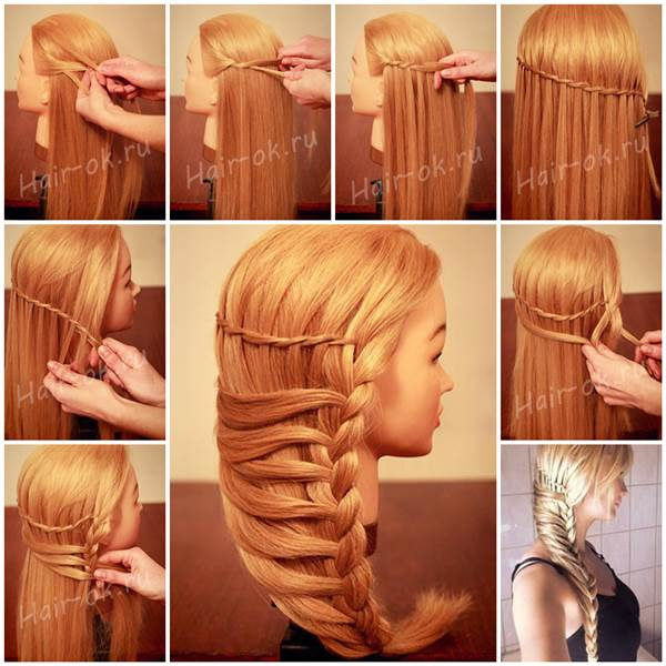 How To Hairstyles : How to Make Stylish Side Braid Hairstyle