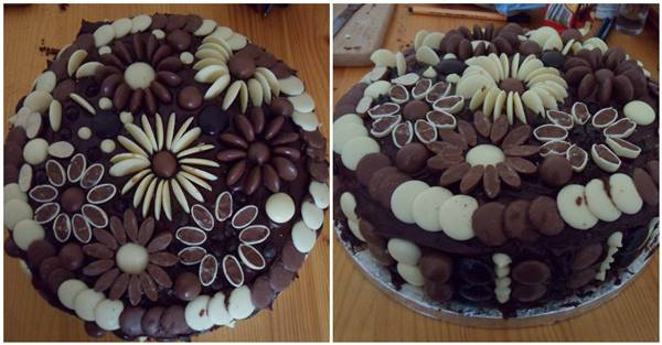 Cake Decorating With Chocolate Buttons : Creative Chocolate Button Cakes DIY Ideas