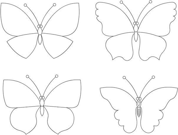 Common Worksheets Butterfly Printable Template Preschool and – Butterfly Template