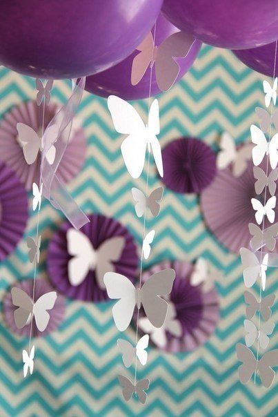 Summer Party Decorations: DIY Beautiful Butterfly Decoration From Templates