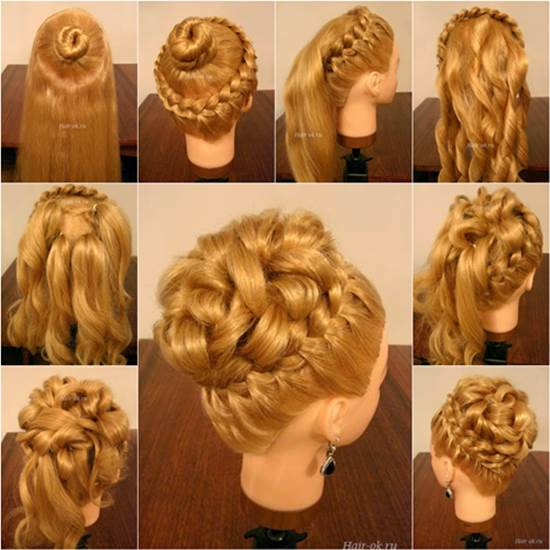 Hairstyles braids and curls