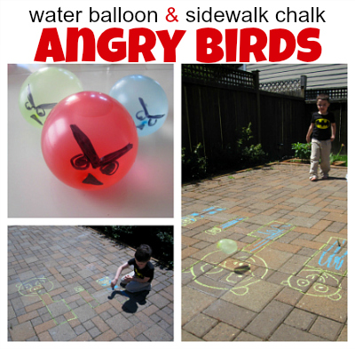 Angry Birds Inspired Water Balloon Game