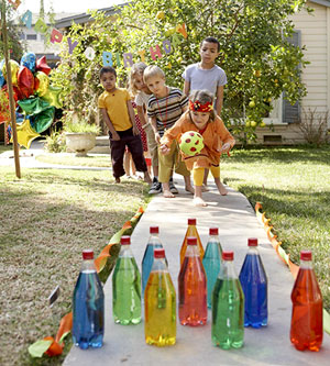 35+ Fun Activities for Kids to Do This Summer --> Backyard Bowling Alley