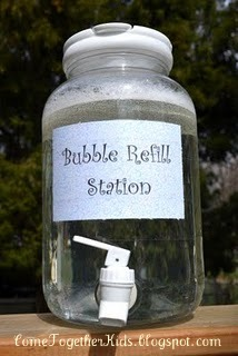35+ Fun Activities for Kids to Do This Summer --> Bubble Refill Container