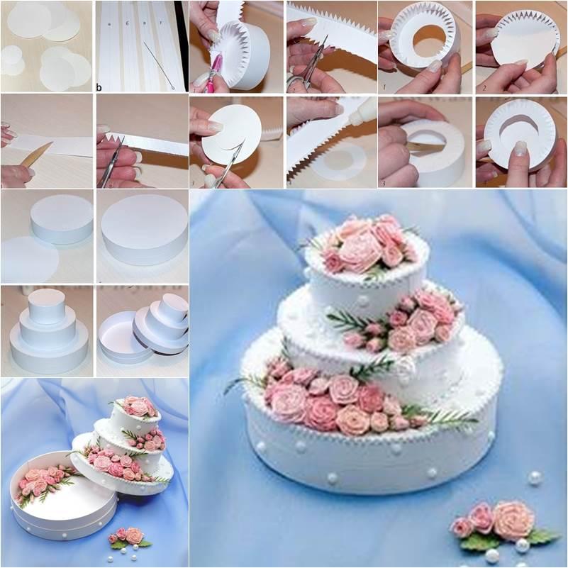 How To Diy Beautiful 3 Tier Cake Shaped Gift Box