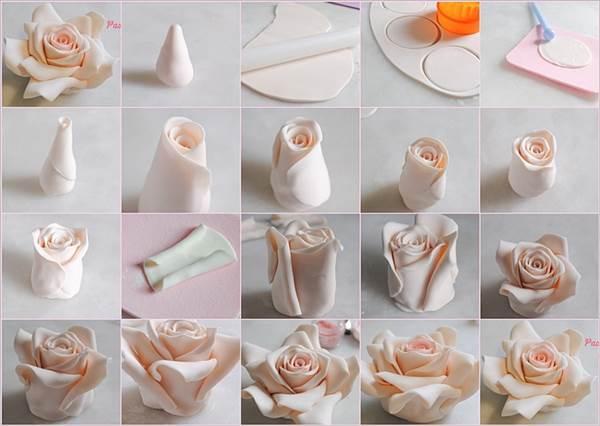 Как сделать из мастики цветок пошаговый