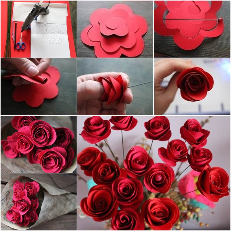 How to DIY Beautiful Swirly Paper Roses - photo#7