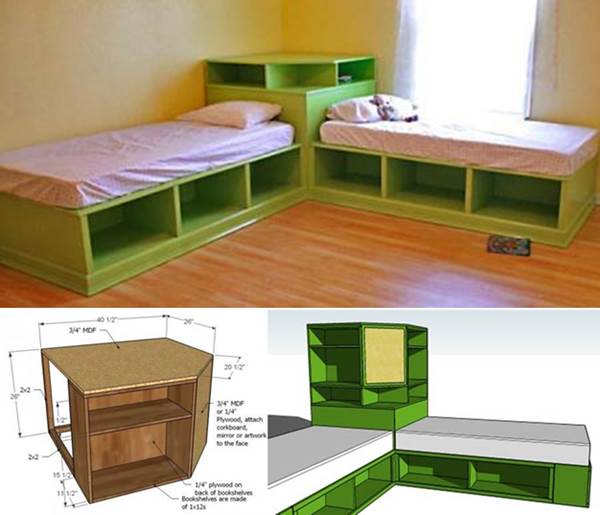 How To Diy Corner Unit For The Twin Storage Bed
