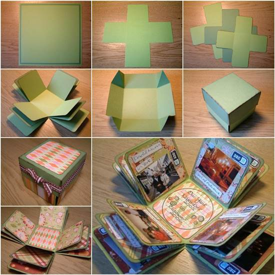 how to diy creative box photo album. Black Bedroom Furniture Sets. Home Design Ideas