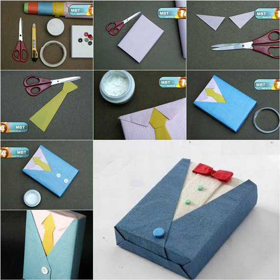 Diy gift wrapping like a suit and tie for Creative diy gifts