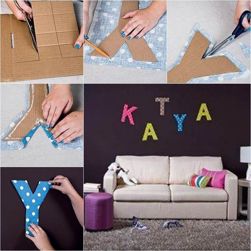 How to diy easy letter wall decals for Homemade wall letters