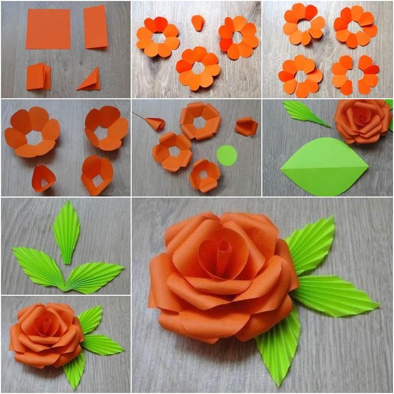 Как сделать цветы из картона своими руками фото