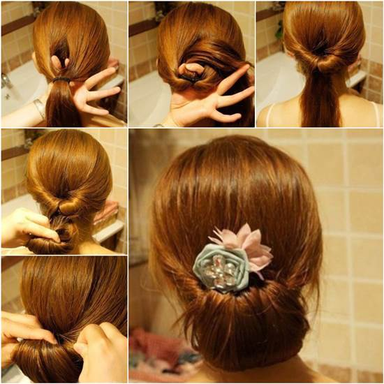 How to DIY Easy Twisted Hair Bun Hairstyle | iCreativeIdeas.com