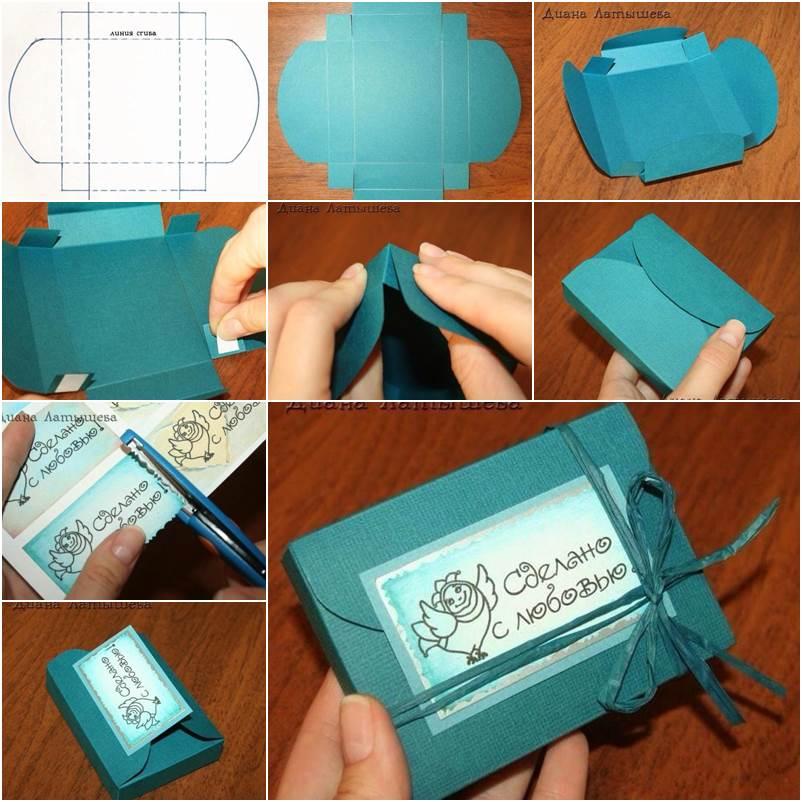 Коробка с подарком сделать своими руками