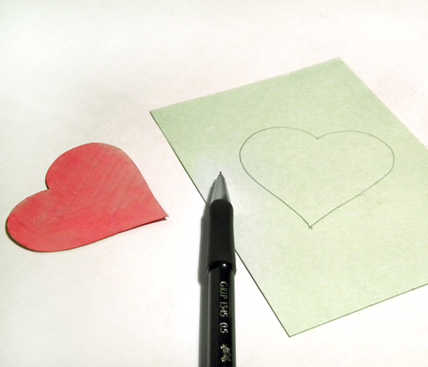 How to diy embroidered heart greeting card