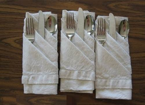 How To DIY French Pleats Napkin Fold