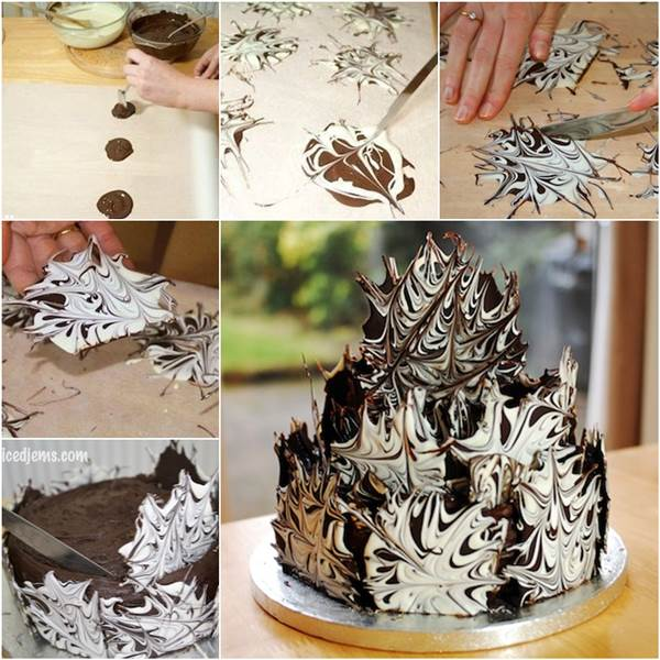 How to DIY Marble Effect Chocolate Cake