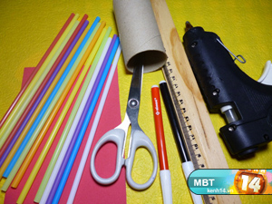 How To Diy Pencil Holder From Drinking Straws And Toilet