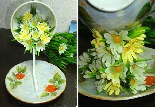 how to diy topiary flower flying cup decor