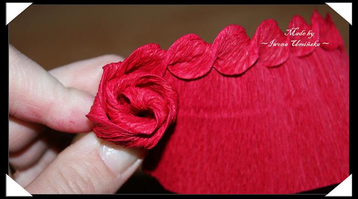 Роза гофрированной бумаги своими руками мастер класс