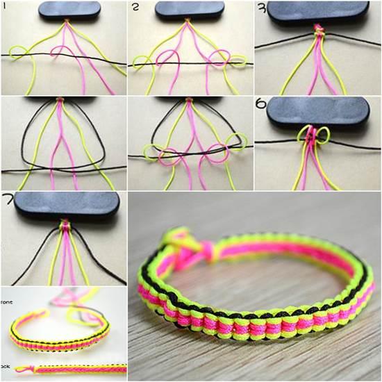Thread bracelet making kit