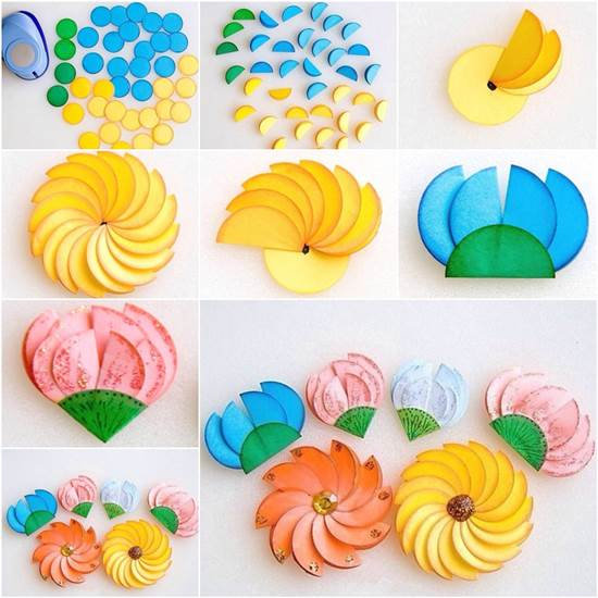 diy project to make paper circle flowers it s amazing that with simple